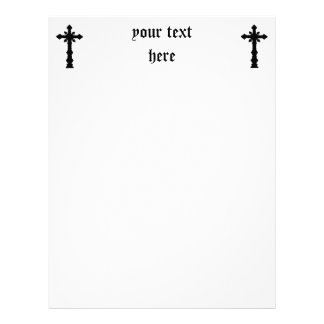 Gothic black cemetery cross letterhead
