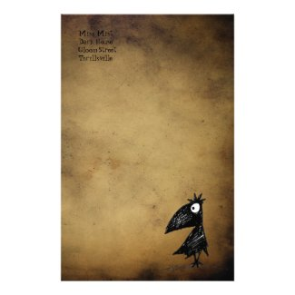 Gothic Black Crow stationery