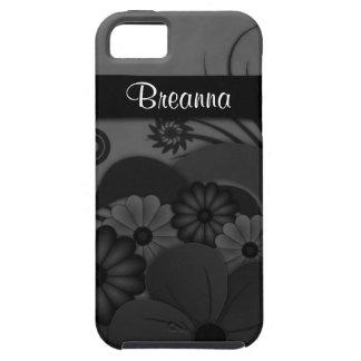Gothic Black Hibiscus Floral iPhone 5 5S Vibe Case