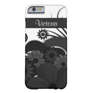 Gothic Black Hibiscus Floral iPhone 6 6S Slim Case