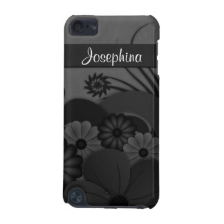 Gothic Black Hibiscus Floral iPod Touch 5G Case