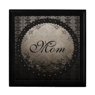 Gothic Black Lace & Damask Mom Jewelry Box