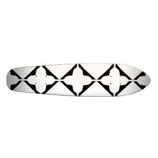 Gothic Black Quatrefoil Skateboard Deck