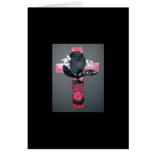 Gothic Black Rose Card