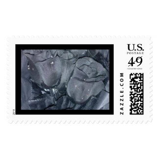 Gothic black Rose Stamp