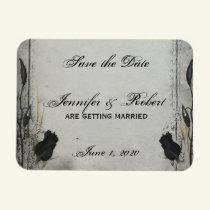 Gothic Black Rose Trellis Save the Date Magnet