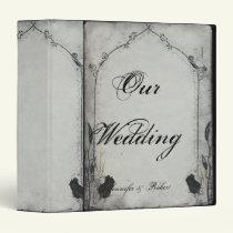 Gothic Black Rose Trellis Wedding Binder