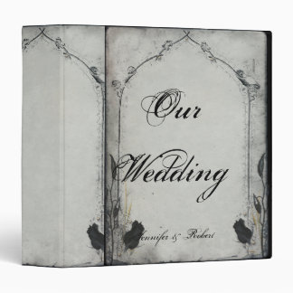 Gothic Black Rose Trellis Wedding Binder