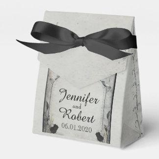 Gothic Black Rose Trellis Wedding Favor Box