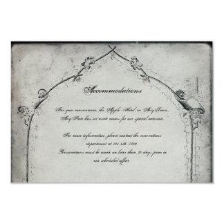 Gothic Black Rose Trellis Wedding Insert Card