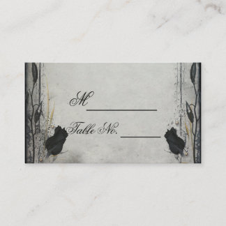Gothic Black Rose Trellis Wedding Place Card