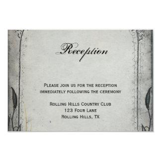 Gothic Black Rose Trellis Wedding Reception Card