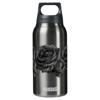 Gothic Black Roses 10 Oz Insulated SIGG Thermos Water Bottle