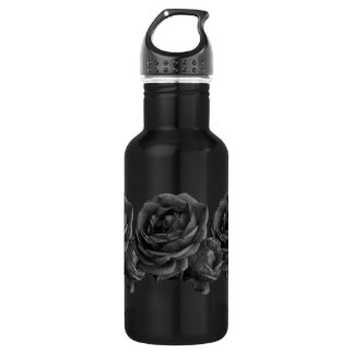 Gothic Black Roses Stainless Steel Water Bottle