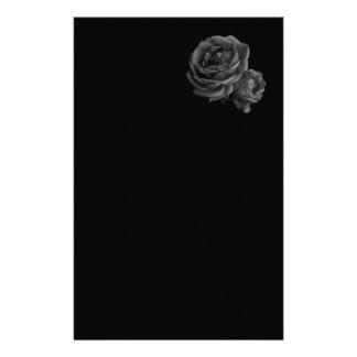 Gothic Black Roses Personalized Stationery