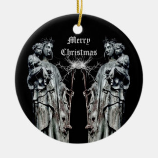 Gothic blessed mother and child Christmas Ornaments