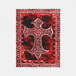 Gothic Blood Cross Symbol Fleece Blanket