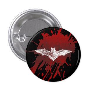 GOTHIC BLOODY BAT VAMPIRE 1 INCH ROUND BUTTON