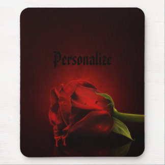 Gothic Bloody Red Rose Personalized Mousepad