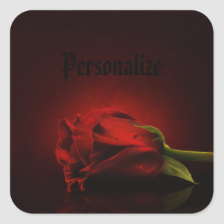 Gothic Bloody Red Rose Personalized Stickers