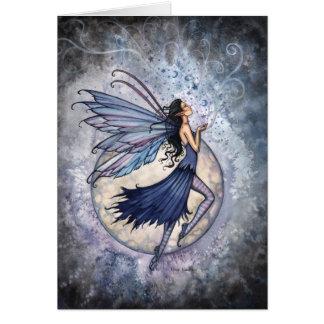 Gothic Blue Fairy Card Celestial ~ Blank