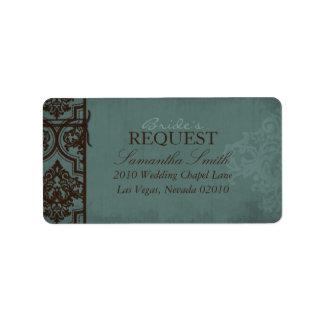 Gothic Bride Address Label B