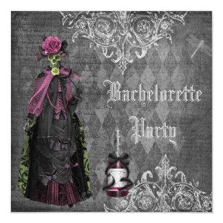 Gothic Bride Skeleton Shabby Chic Bachelorette Invitation