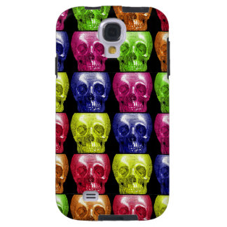 Gothic Bright Colors Skulls Collage Halloween Galaxy S4 Case
