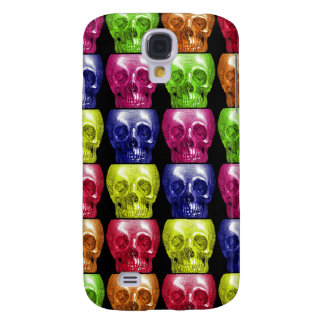 Gothic Bright Colors Skulls Collage Halloween Samsung S4 Case