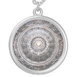 Gothic Bronze Medallion Round Pendant Necklace