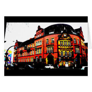 gothic building from germany posterized card