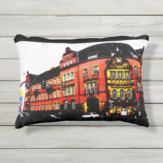 gothic building from germany posterized outdoor pillow