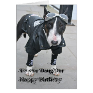Gothic Bulldog Happy Birthday Daughter  Card