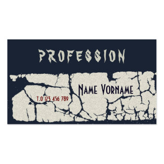 gothic business card