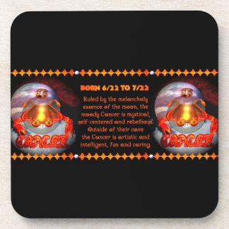 Gothic Cancer zodiac astrology valxart.com Drink Coaster