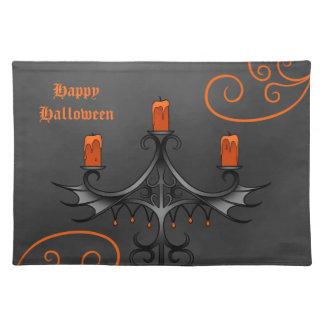 Gothic candelabra Halloween Cloth Placemat