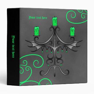 """Gothic candelabra Halloween pretty green 1.5"""" wide Binder"""