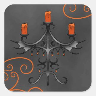 Gothic candelabra Halloween Square Sticker