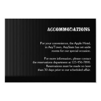 Gothic Candelabra on Black Wedding Accomodations Card