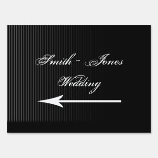 Gothic Candelabra on Black Wedding Direction Sign