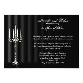 Gothic Candelabra Stripe Wedding Anniversary Card