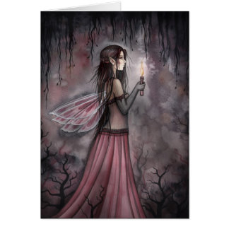 Gothic Candle Fairy Card by Molly Harrison