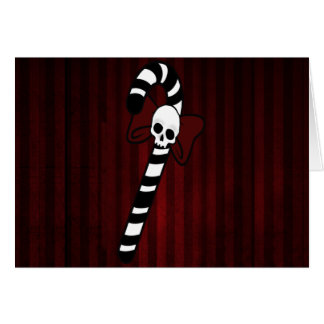 Gothic Candy Cane Card