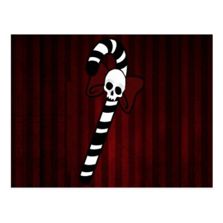 Gothic Candy Cane Postcard