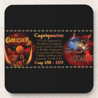 Gothic Capricorn-Aquarius zodiac cusp Valxart.com Drink Coasters