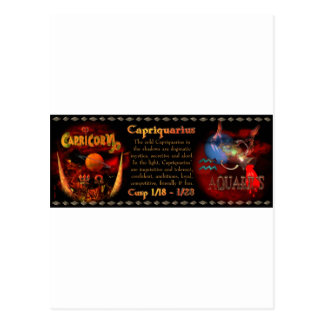 Gothic Capricorn-Aquarius zodiac cusp Valxart.com Postcard