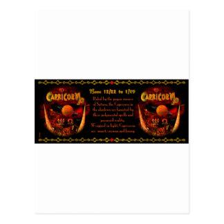 Gothic Capricorn  zodiac astrology by Valxart.com Postcard