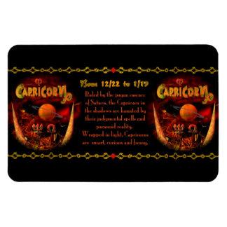 Gothic Capricorn  zodiac astrology by Valxart.com Rectangular Photo Magnet