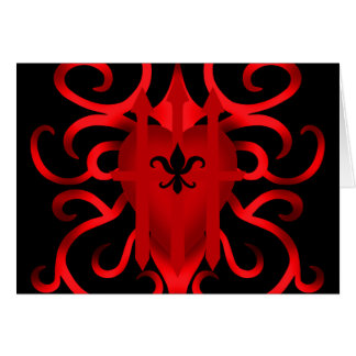 Gothic captured heart in red will print clearly greeting cards