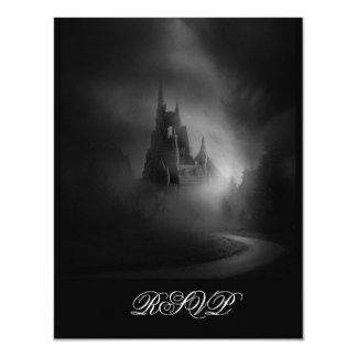 Gothic Castle Wedding RSVP 4.25x5.5 Paper Invitation Card